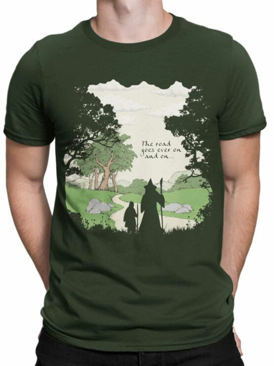 0392 Lord of the Rings T Shirt The Road Front Man