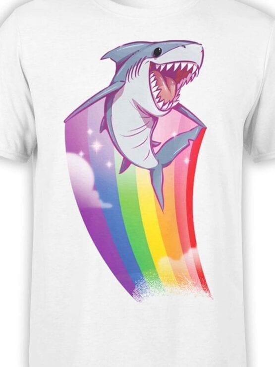 "Funny T-Shirts ""Rainbow Shark"". Cool T-Shirts."