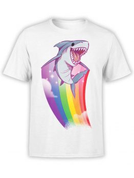 "Funny T-Shirts ""Rainbow Shark"". Cool T-Shirts."