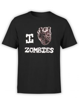 "Horror T-Shirts ""I Love Zombies"". Cool Shirts."