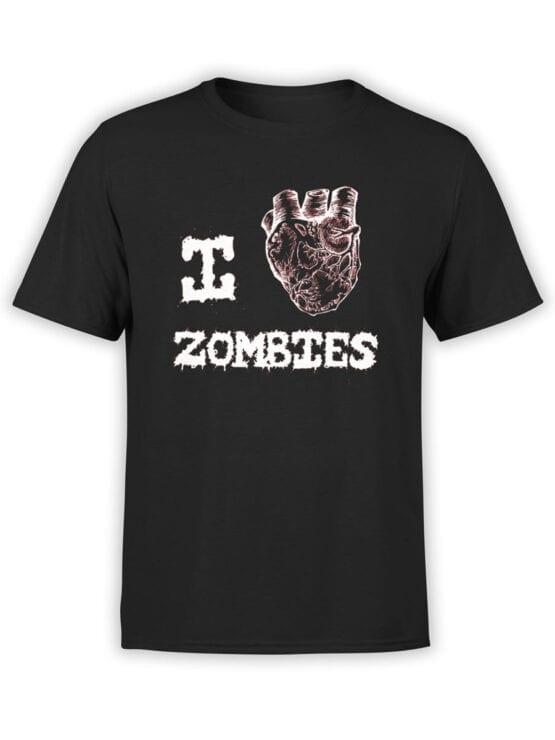 "Horror T-Shirts ""I Love Zombies"". Cool Shirts."