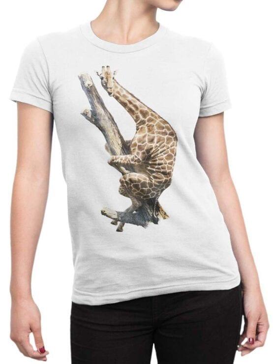 "Funny T-Shirts ""Giraffe on the Tree"". Cool T-Shirts."