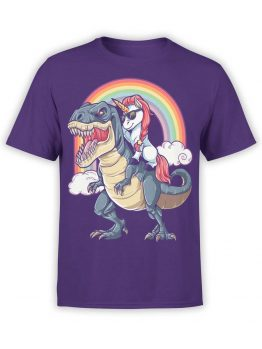 "Funny T-Shirts ""Unicorn and T-Rex"""