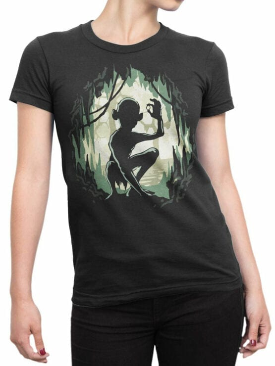 Lord of the Rings T Shirt Gollum Front Woman
