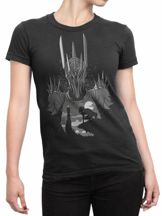 Lord of the Rings T Shirt Sauron Front Woman