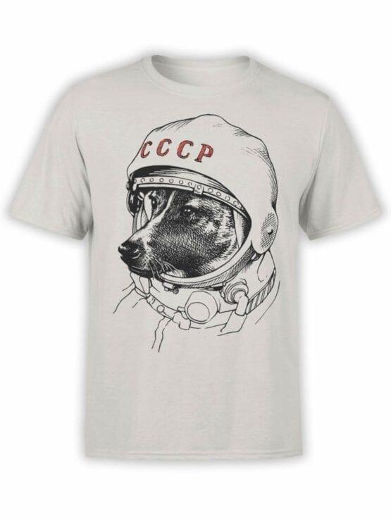 0461 Astronaut Shirt Laika_Front_Silver
