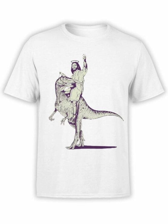 0466 Funny T-Shirts Jesus On The Raptor_Front