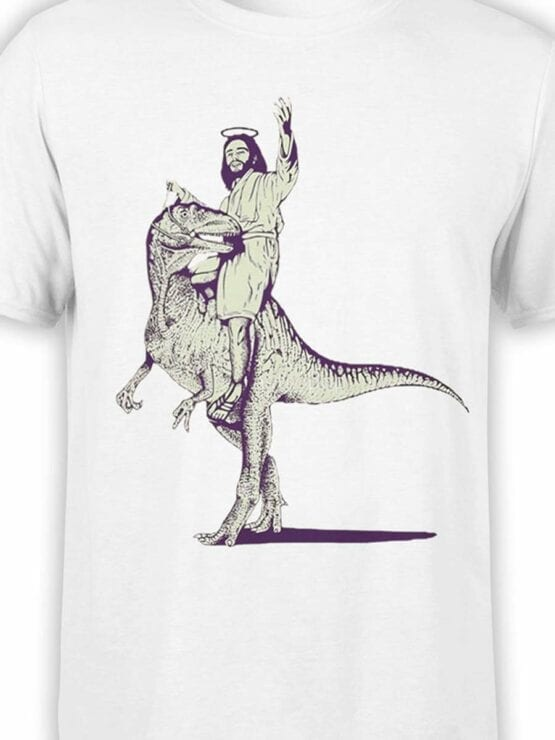 0466 Funny T-Shirts Jesus On The Raptor_Front_Color