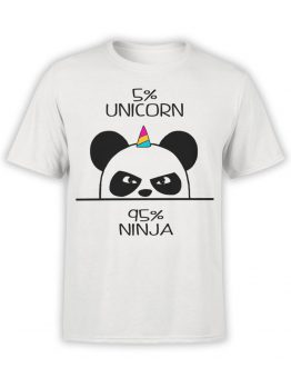 0473 Panda Shirt Unicorn Ninja_Front_Man