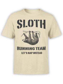 0477 Sloth Shirt Running Team