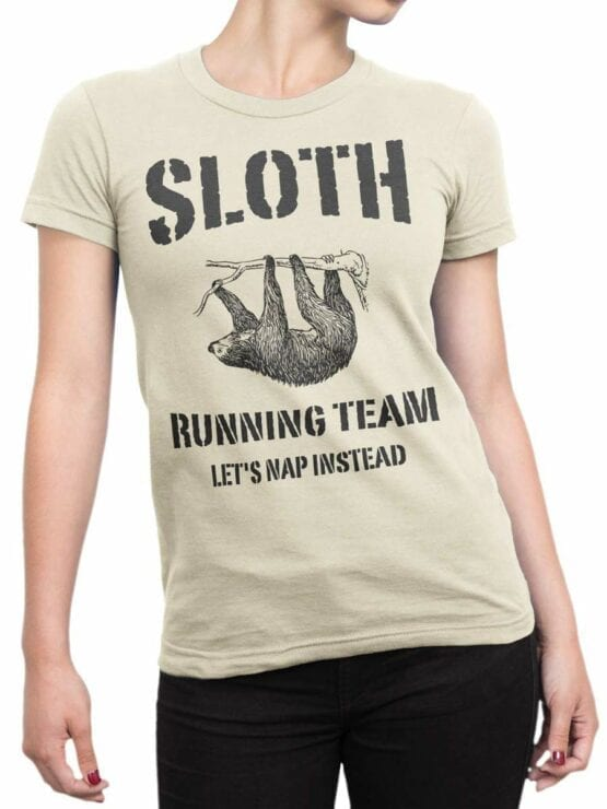 0477 Sloth Shirt Running Team
