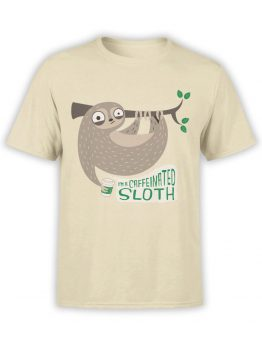 0489 Sloth Shirt Caffeinate