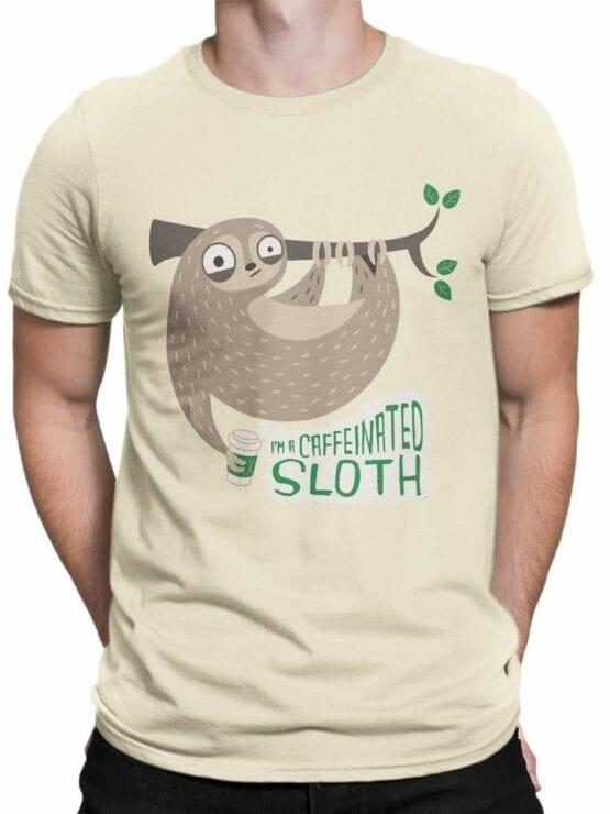 0489 Sloth Shirt Caffeinate