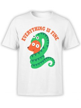 0490 Funny T-Shirts Everything Is Fine