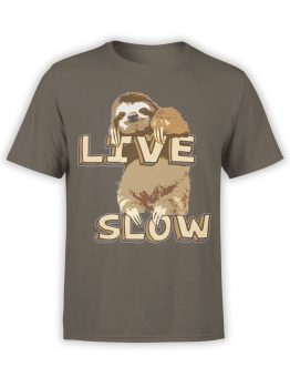 0497 Sloth T-Shirt Live Slow