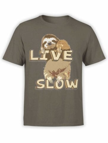 0497 Sloth T-Shirt Live Slow