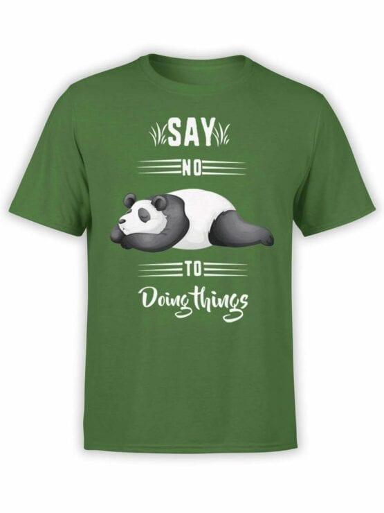 0520 Panda T-Shirt Say No