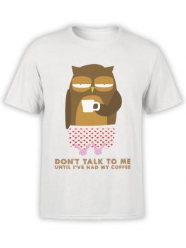 0532 Owl Shirt Coffee