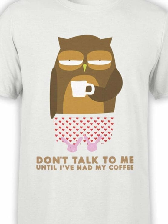 0532 Owl Shirt Coffee