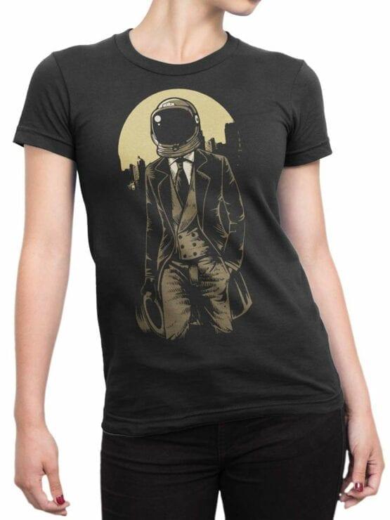 0538 Vintage T-Shirts Astronaut Gentleman