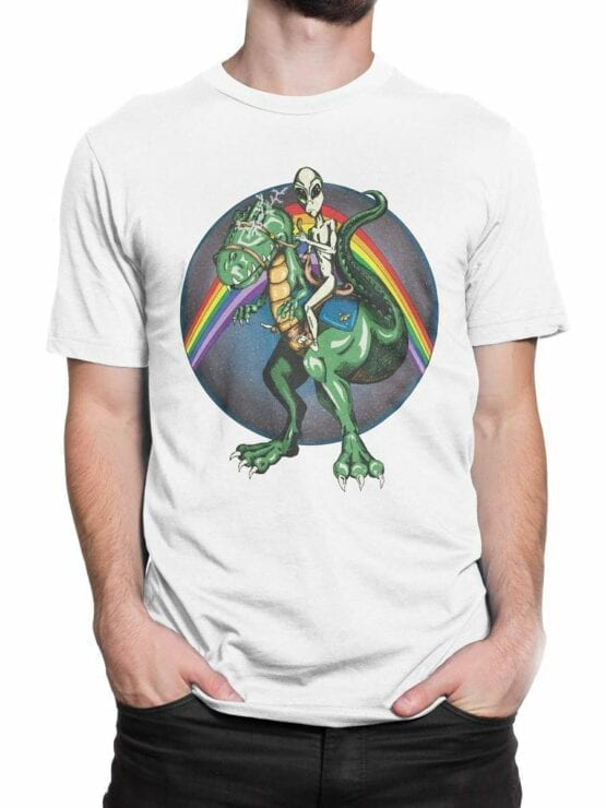 0544 Dinosaur Shirt Alien and T-Rex