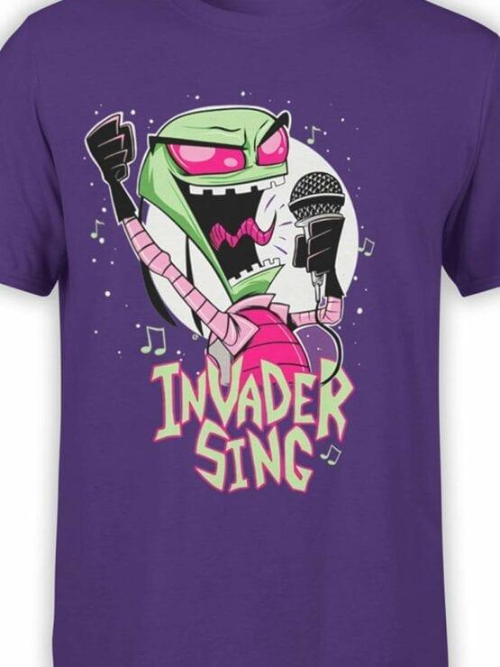 0552 Alien Shirt Invader Sing