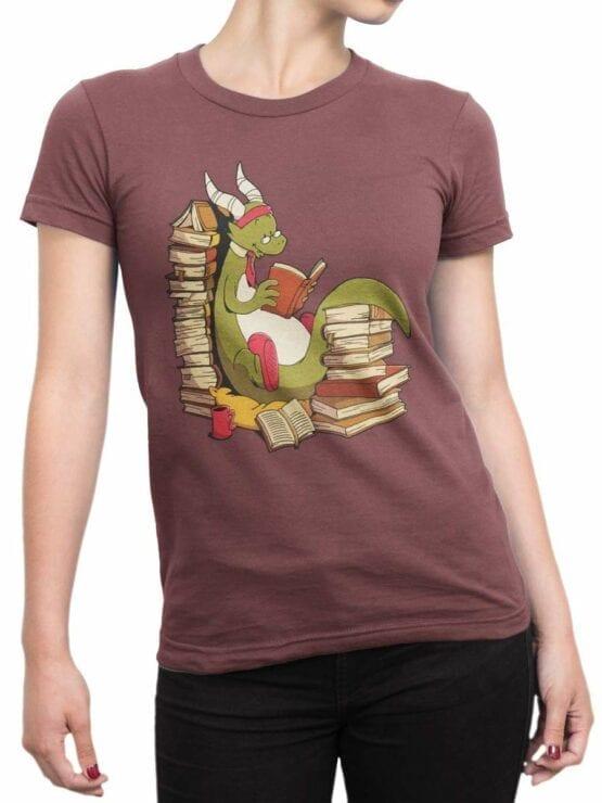 0560 Dragon T-Shirt Book Wyrm_Front_Woman