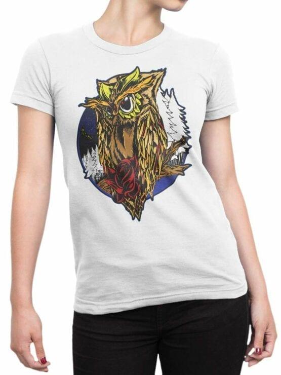 0561 Owl Shirt Night_Front_Woman