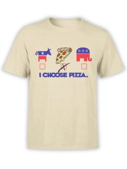 0562 Pizza T-Shirt Right Choice_Front