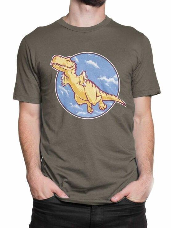 0564 Dinosaur T-Shirt I Can Fly_Front_Man_2