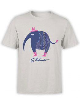 0567 Elephant Shirt Elephanto_Front Silver