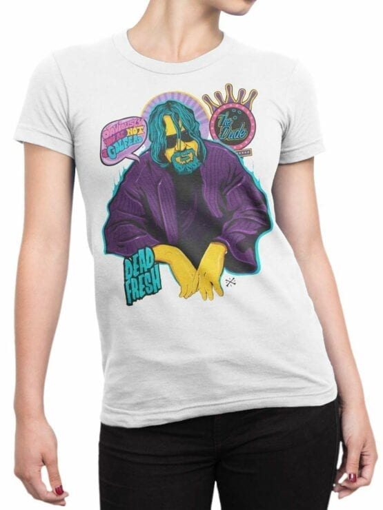 0573 Big Lebowski T-Shirt Obviously_Front_Woman