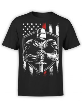 0574 Knight T-Shirt Patriotic Knight_Front