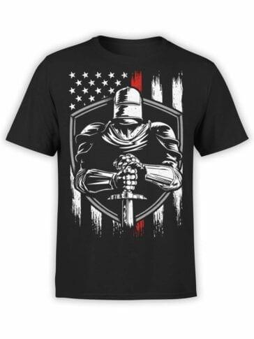 0574 Knight T-Shirt Patriotic Knight_Front