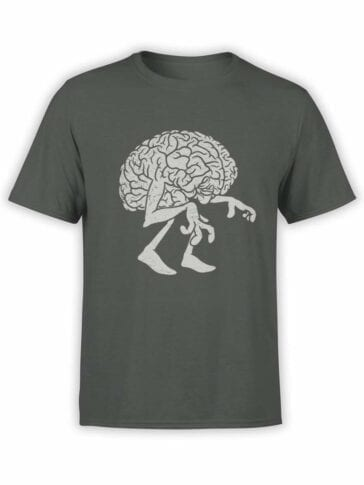 0578 Monster Shirts Zombie Brain_Front