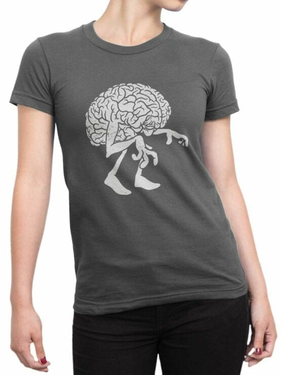 0578 Monster Shirts Zombie Brain_Front_Woman