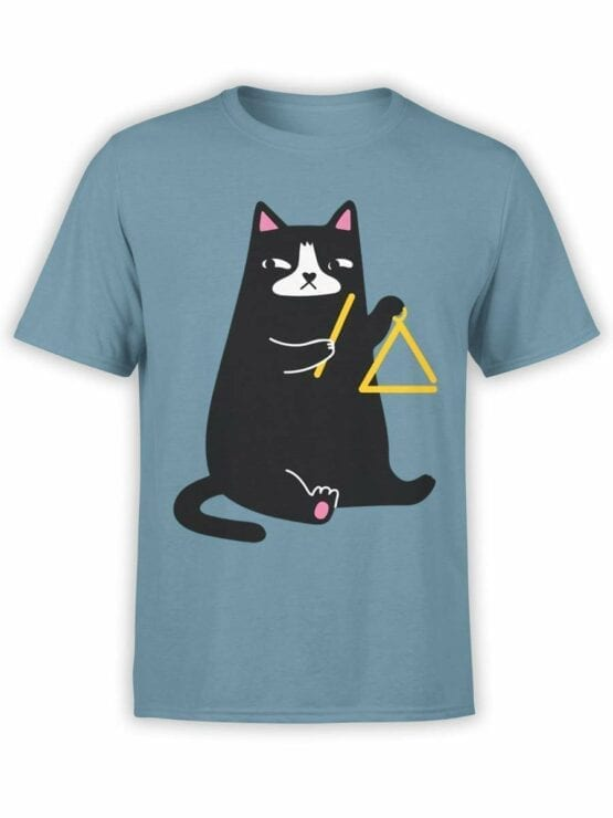 0588 Cat Shirts Triangle Cat_Front