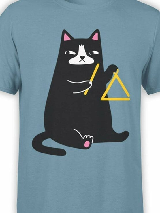 0588 Cat Shirts Triangle Cat_Front_Color