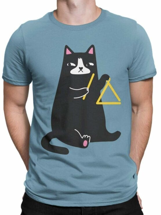 0588 Cat Shirts Triangle Cat_Front_Man