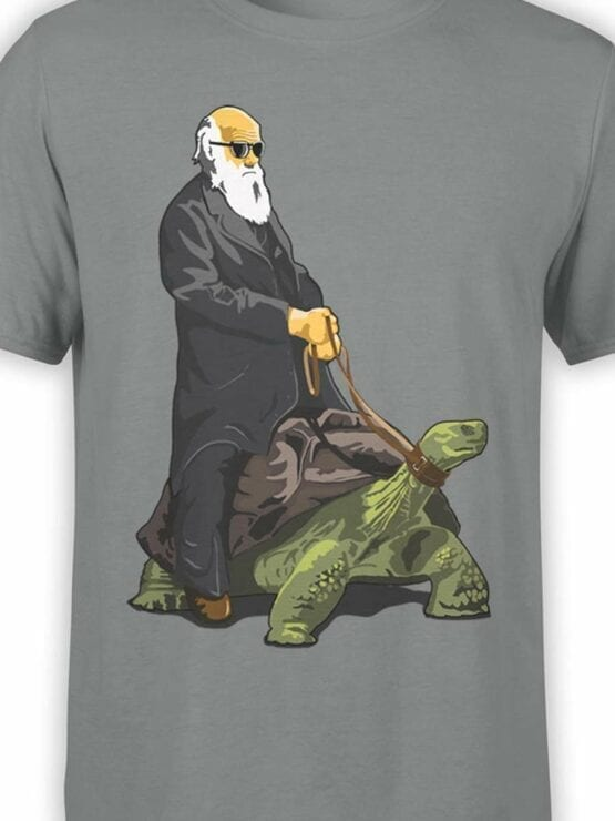 0589 Funny T-Shirt Darwin on the Turtle_Front_Color