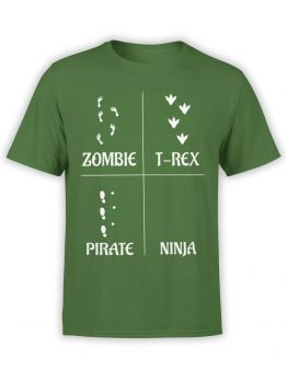 0590 Funny T-Shirts Footprints_Front Forest
