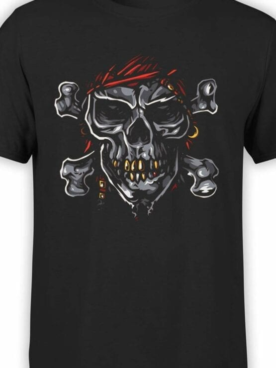 0593 Pirate Shirt Jolly Roger_Front_Color