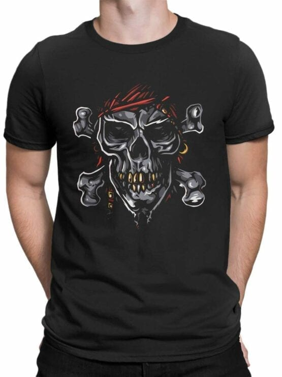0593 Pirate Shirt Jolly Roger_Front_Man
