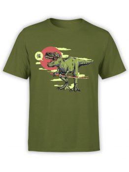 0597 Dinosaur Shirt Samurex_Front Olive