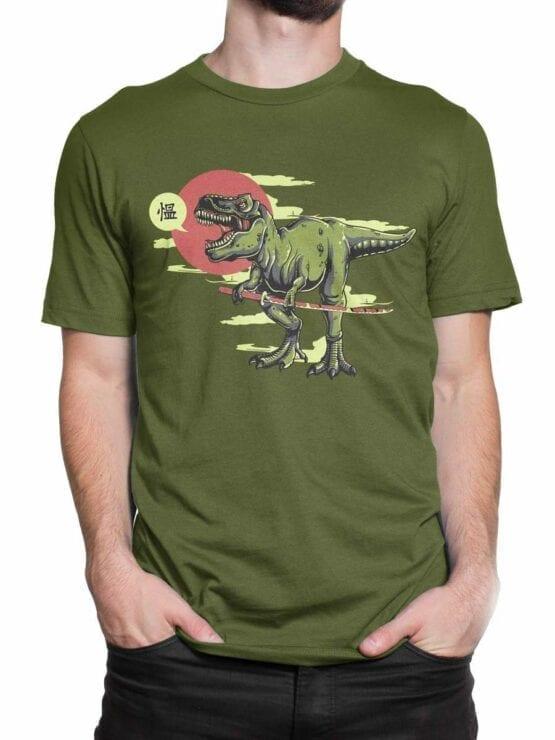 0597 Dinosaur Shirt Samurex_Front_Man_2