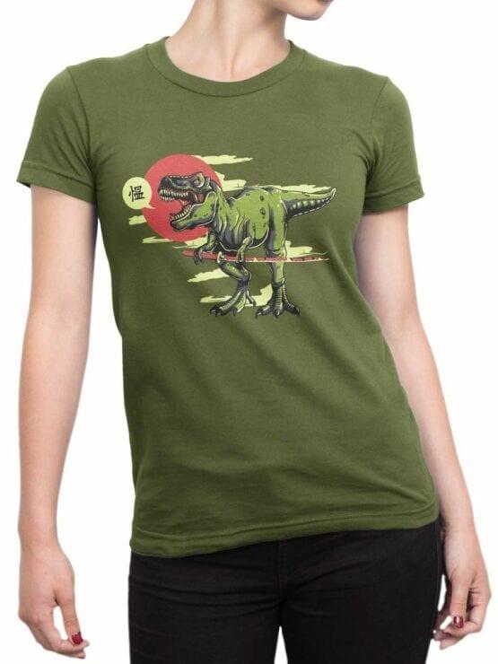 0597 Dinosaur Shirt Samurex_Front_Woman