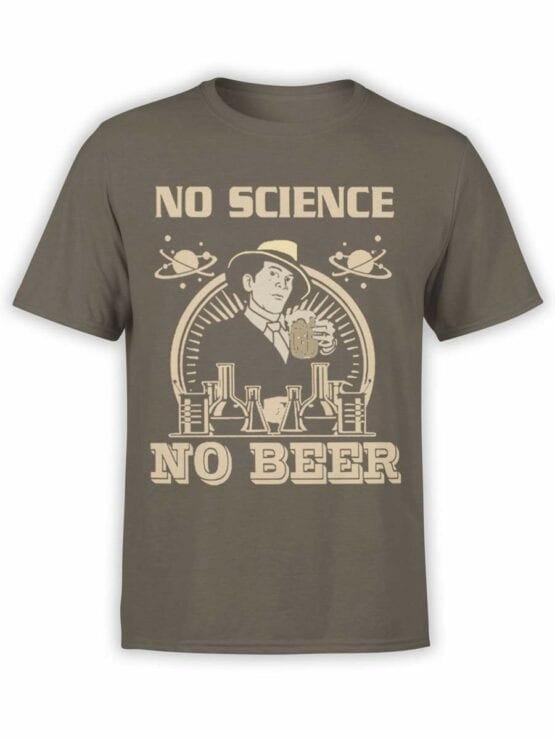 0600 Science Shirts No Science No Beer_Front
