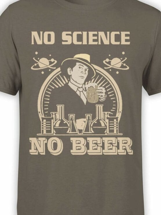 0600 Science Shirts No Science No Beer_Front_Color