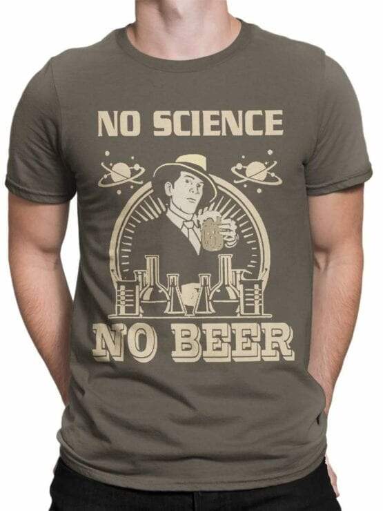 0600 Science Shirts No Science No Beer_Front_Man