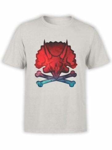 0609 Pirate Shirt Jolly Triceratops